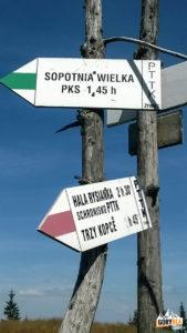 Drogowskazy na Hali Miziowej