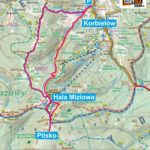 Pilsko z Korbielowa - mapa trasy