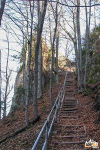 Schody na Zamek Pieniński
