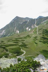 Widok z Zadniego Ornaku (1867 m) na Błyszcz (2158 m) i Bystrą (2248 m)