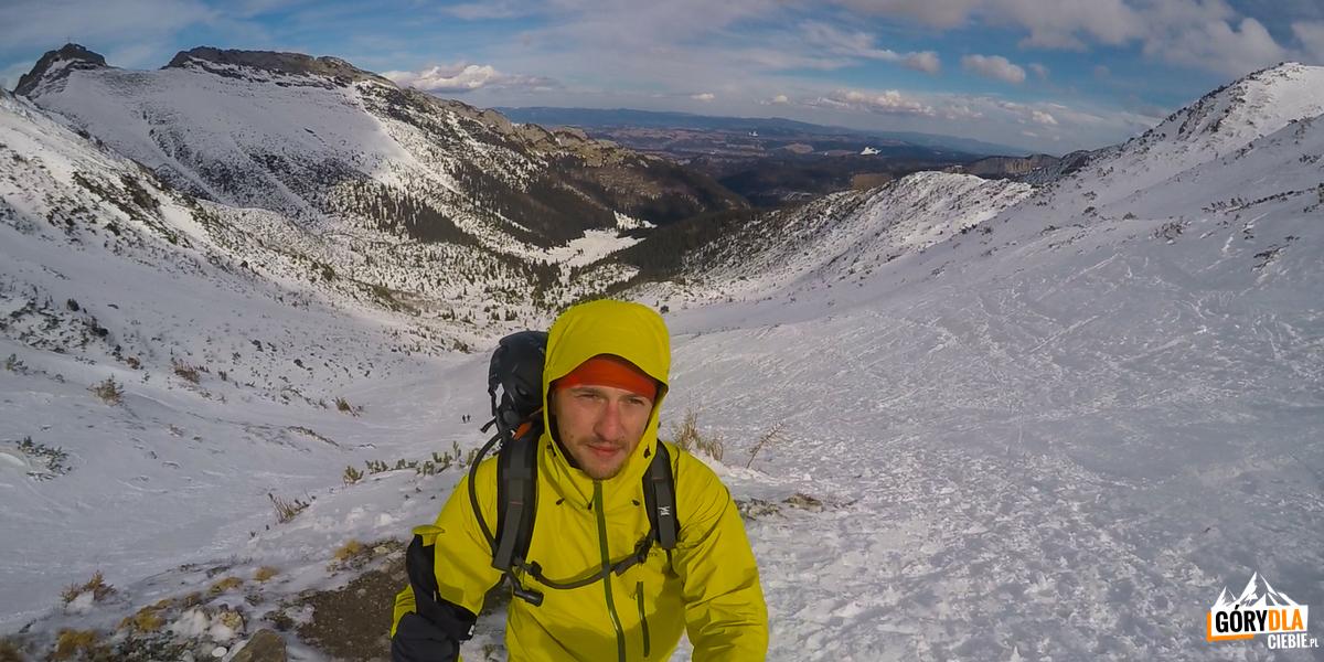 Poniżej Przełęczy pod Kopą Kondracką