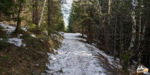 Podejście szlakiem na Kalatówki