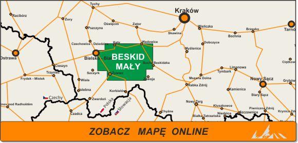 Mapa zakres Beskid Mały
