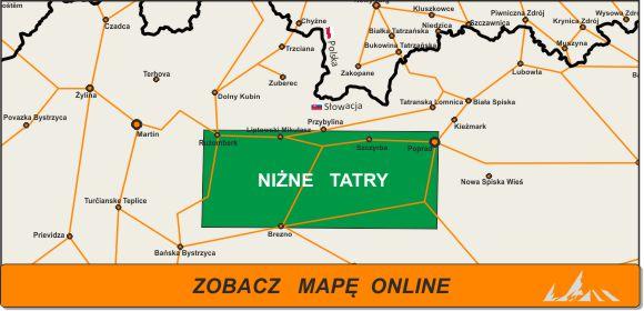 Mapa zakres Niżne Tatry