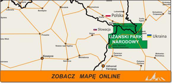 Mapa zakres Użański Park Narodowy