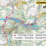 Sokola Perć w Pieninach - mapa