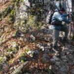 Sokola Perć - zejście na Przełęcz Sosnów (655 m)
