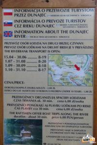 """""""Rozkład jazdy"""" przewoźnika na Dunajcu w Szczawnicy"""
