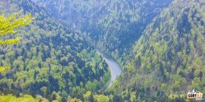 Przełom Dunajca widziany spod Sokolicy