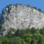 Ściana Sokolicy (100 m pionu) widziana z Przełomu Dunajca