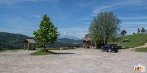 Przełęcz pod Tokarnią lub Przełęcz Leśnicka 720 m (Lesnické sedlo)