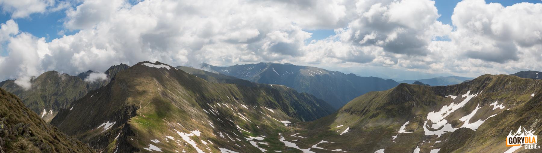 Panorama z Vf. Vistea Mare (2527 m)