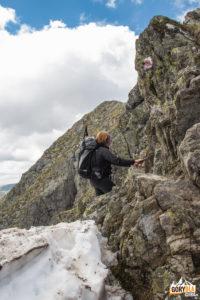 Łańcuch pod szczytem Moldoveanu 2544 m