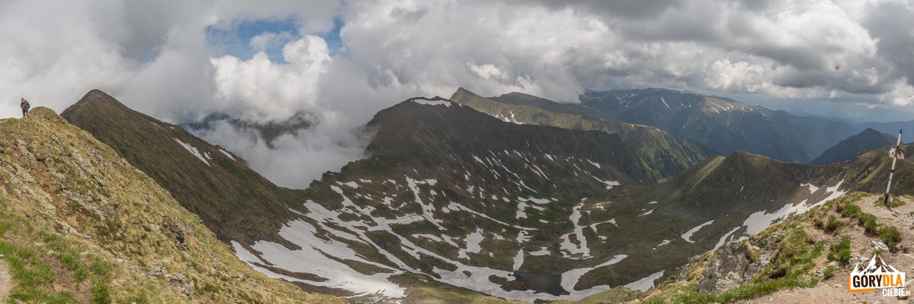 Panorama ze szczytu Moldoveanu