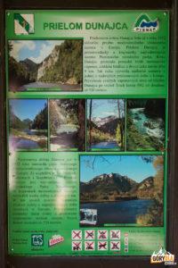 Czerwony Klasztor - tablica informacyjna o Przełomie Dunajca