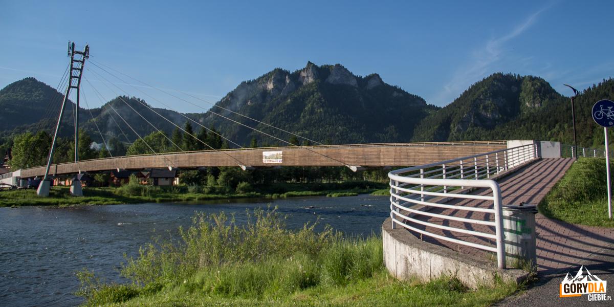 Most pieszy irowerowy naDunajcu między Sromowcami Niżnymi, aCzerwonym Klasztorem