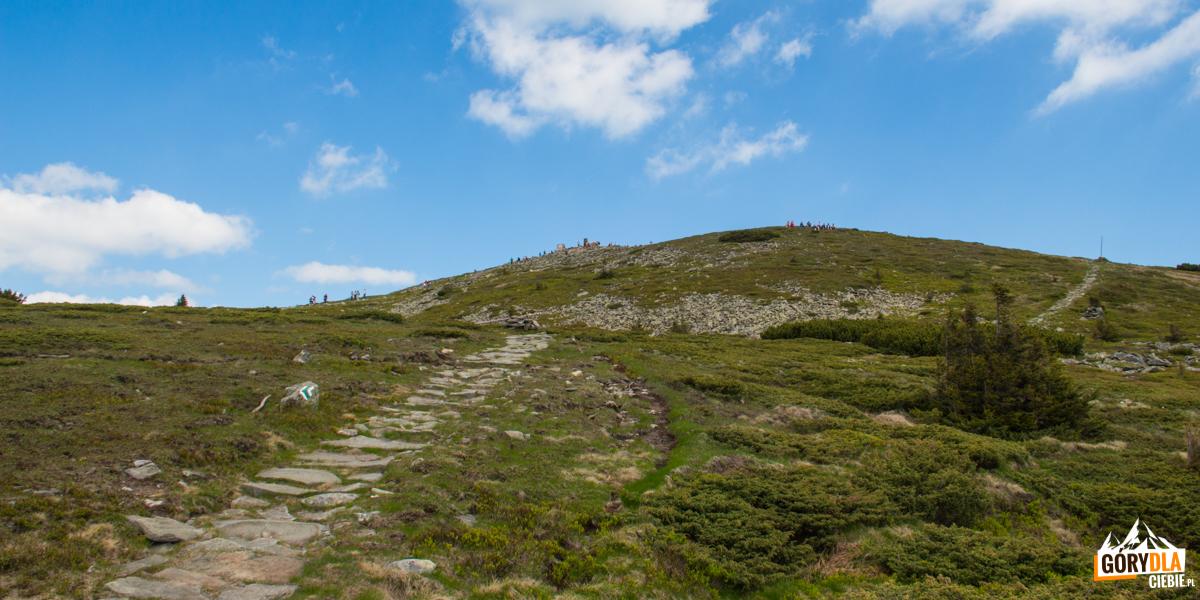 Kamienna ścieżka biegnąca naszczyt Diablaka