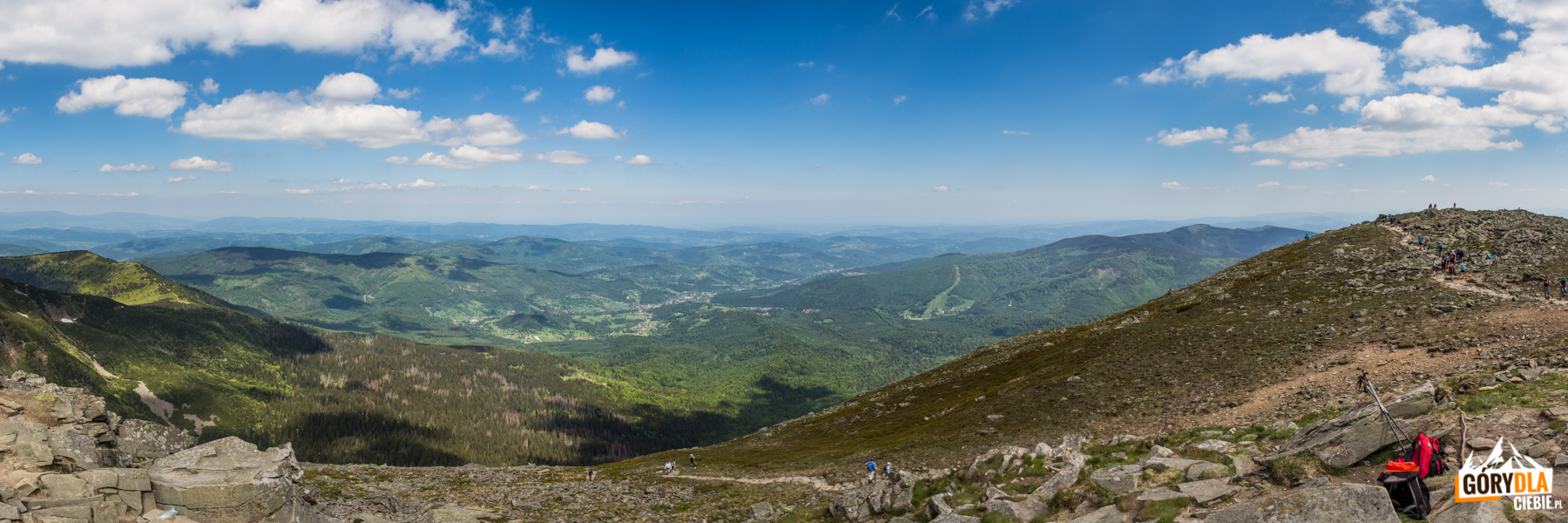 Panorama zeszczytu Babiej Góry