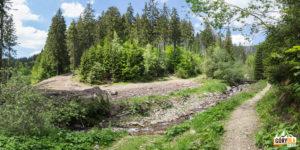 Mostek na potoku Bystrá