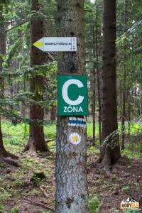 Szlaki przy przejściu granicy pod Czyżów Wierszek (droga do Stańcowej)