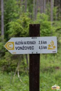 Szlak rowerowy przy przejściu granicy pod Czyżów Wierszek (droga do Stańcowej)