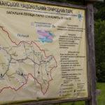 Mapa regionu przy drodze z Użoka do Roztoki