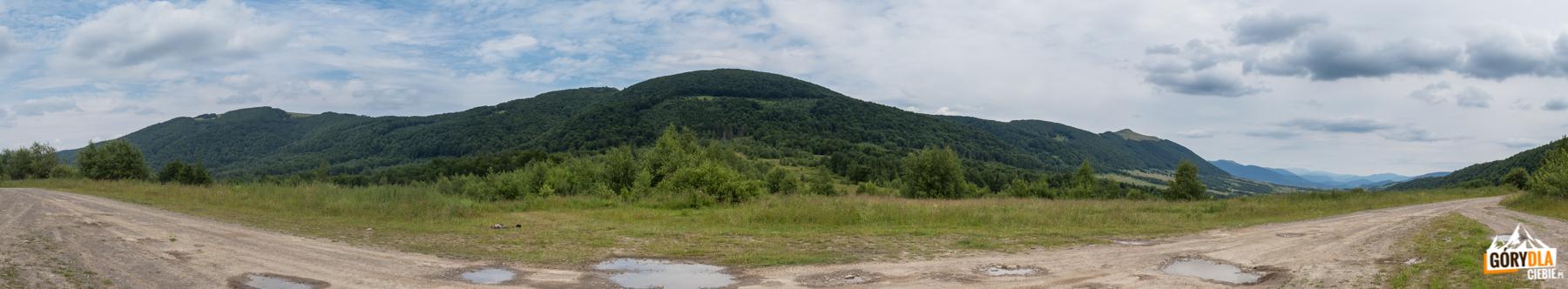 Panorama z przełęczy na trasie Użok do wsi Roztoka i dalej do Biłasowicy