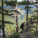 Niektórzy wykorzystują ferratę Wachthüttlkamm (A-B) jako drogę zejścia po zdobyciu ferraty Teufelsbadstubensteig lub Alpenvereinssteig
