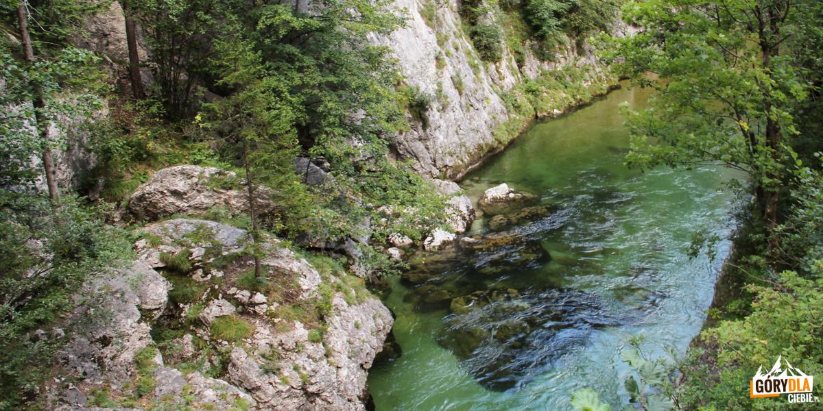 Potok przepływający przez Kaisserbrunn
