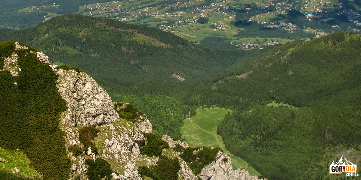 Dolina Małej Łąki widziana z grani Czerwonego Grzbietu
