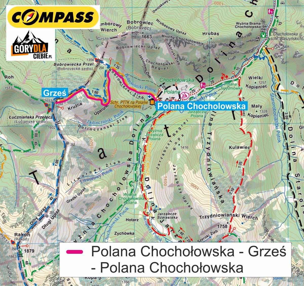 Grzes I Rakon Latwe I Widokowe Szczyty W Tatrach Opis I Mapa Trasy