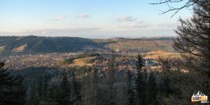 Panorama Zakopanego i Gubałówki, z grani Nosala