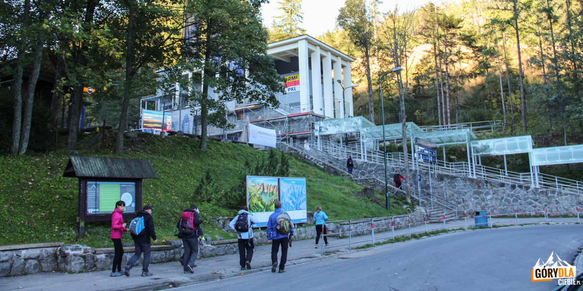 Kuźnice - dolna stacja kolejki na Kasprowy Wierch
