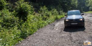 Droga leśna prowadząca do Lipowca