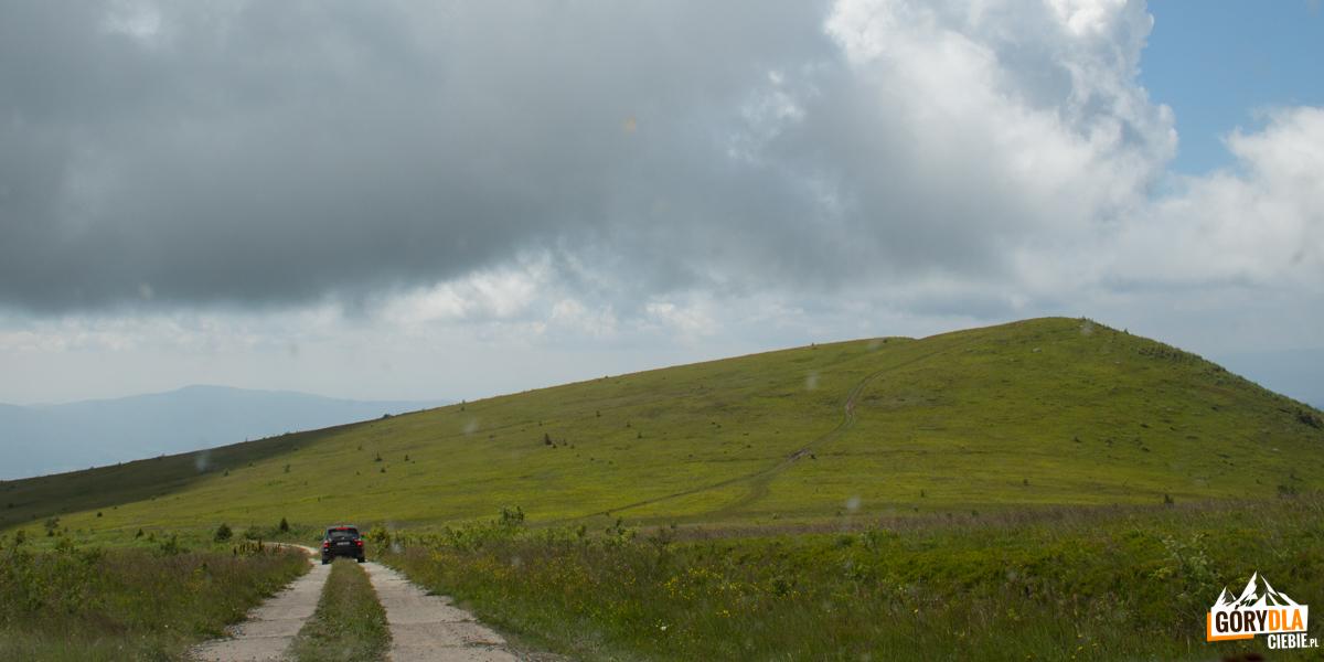 Praktycznie każde wzniesienie naPołonoinie Równej pokryte jest drogami, poktórych jeżdżą off-roadowcy