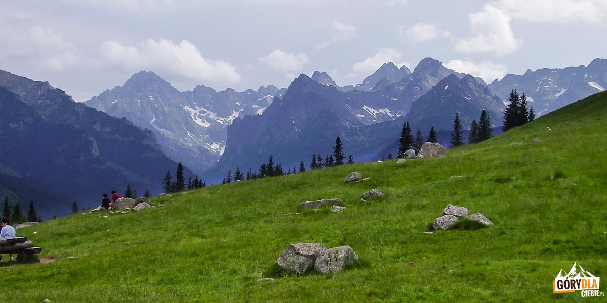 Rusinowa Polana - panorama Tatr