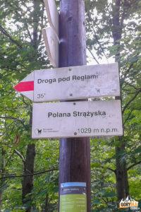 Drogowskazy na Polanie Strążyskiej (1029 m)