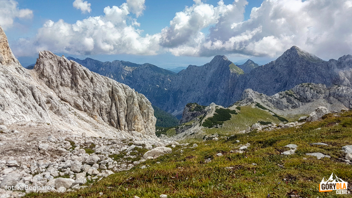 Alpy Julijskie - widok ztrasy zRudno Polje doPlanika Dom