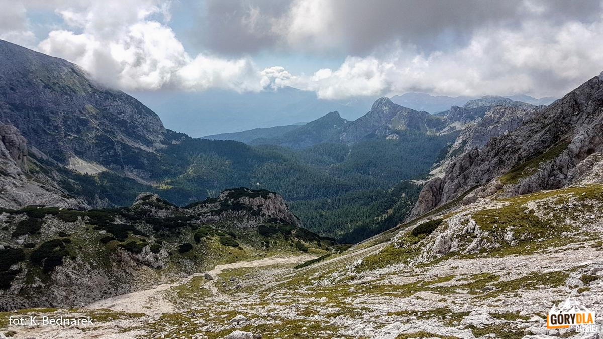 Alpy Julijskie - widok z trasy z Rudno polje do Planika dom