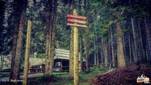 Początek trasy w Rudno polje