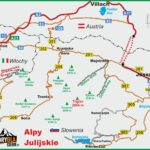 Alpy Julijskie - mapa