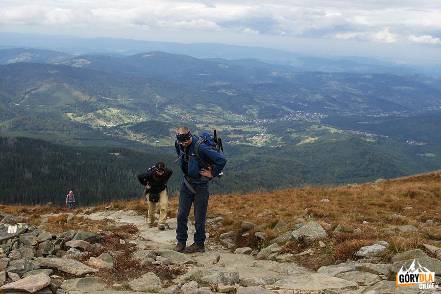 Podejscie naszczyt Babiej Góry