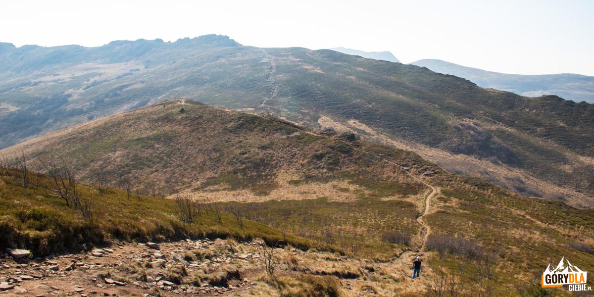 Zejście z Bukowego Berda na Krzemień