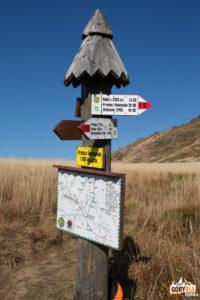 Skrzyżowanie szlaków na Przełęczy Goprowskiej (1160 m)