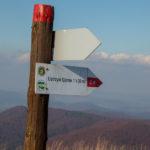 Zejście z Szerokiego Wierchu (czerwony szlak)