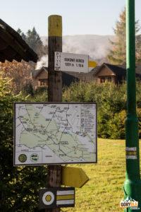 Muczne - początek zółtego szlaku na Bukowe Berdo