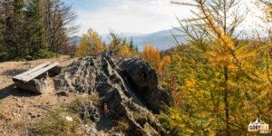 Dwernik Kamień - wychodnia skalna naszczycie