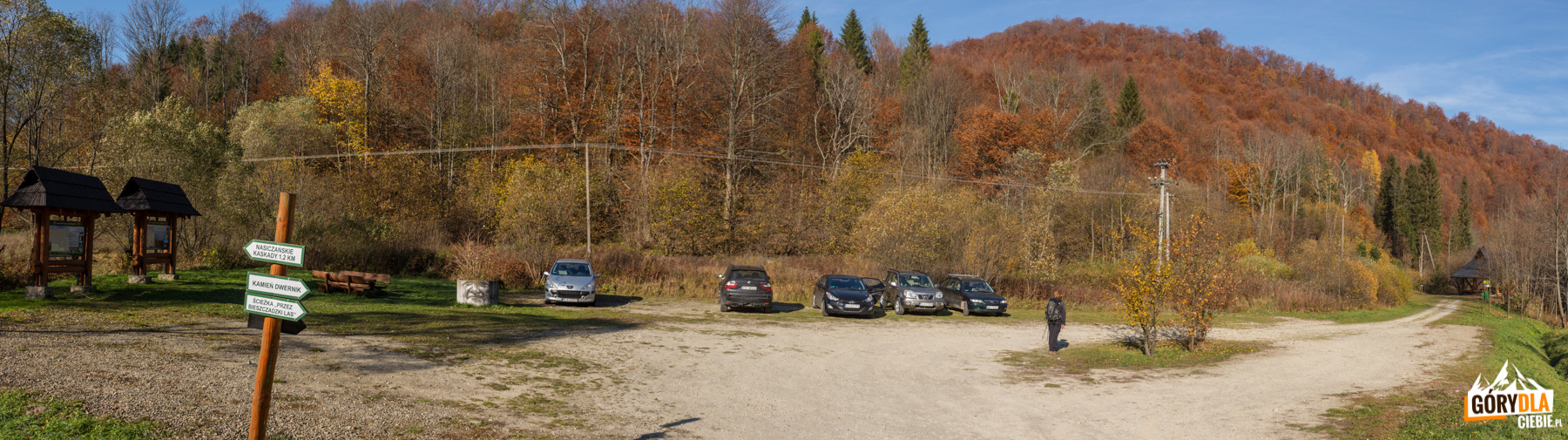 Nasiczne - parking (przy czerwonym szlaku naDwernik Kamień)