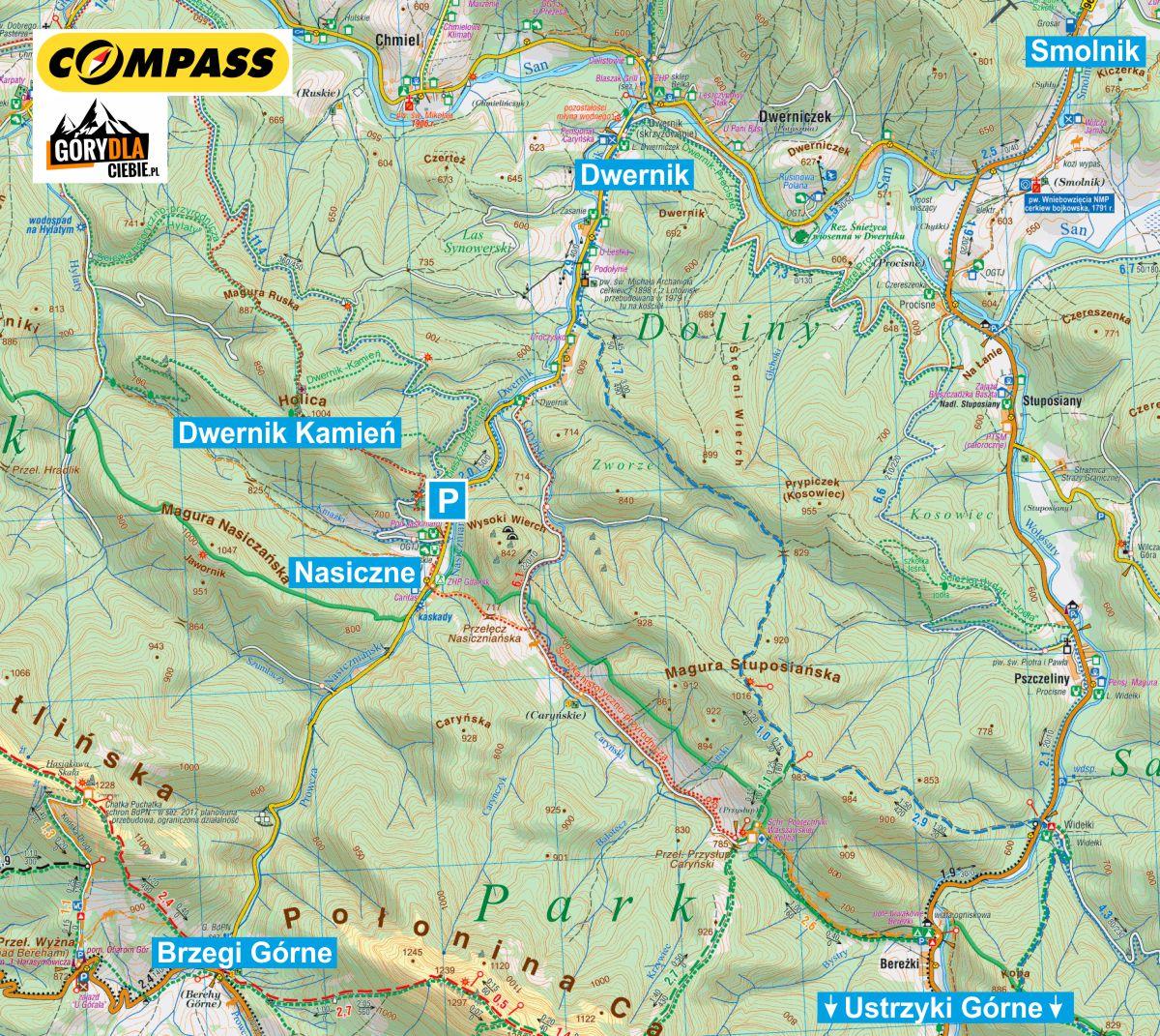 Dwernik Kamień - dojazd mapa