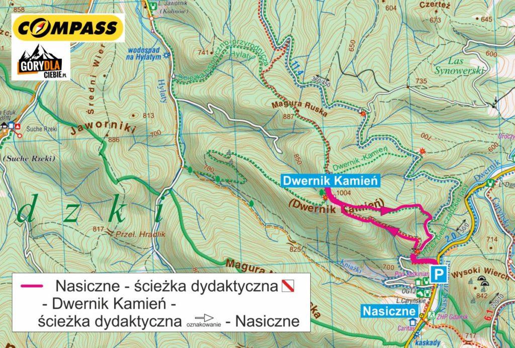 Dwernik Kamień mapa